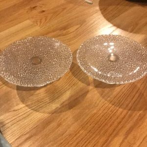 Crystal Serving Platters Set of 2
